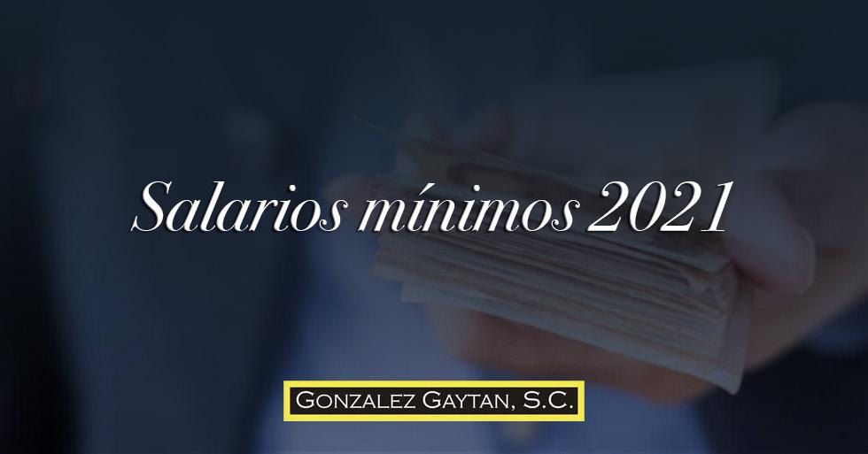 Salario minimo 2021
